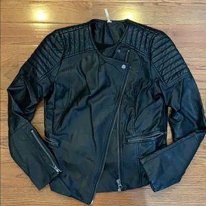 Free People vegan moto jacket leather